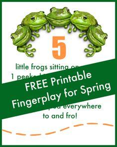 5 Little Frogs Fingerplay