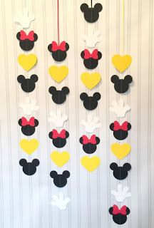 Mickey and Minnie Garlands set of 4 or 8 VERTICAL, Mickey Mouse and Minnie Mouse Birthday garland, Mickey mouse and Minnie Mouse party decor : Mickey and Minnie Garlands set of 4 or 8 VERTICAL Mickey Birthday Garland, Mickey Mouse Birthday, 2nd Birthday, Elmo Party, Mickey Party, Dinosaur Party, Dinosaur Birthday, Disney Window Decoration, Minnie Mouse Party Decorations