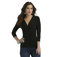 Sofia by Sofia Vergara- -Women's Ruched Knot Top $16.99