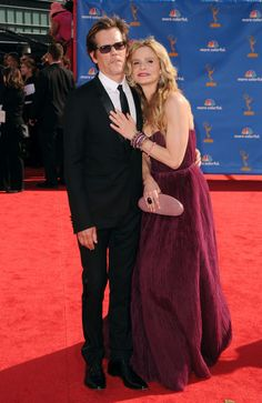 Kyra Sedgwick Photos Photos - Actors Kevin Bacon (L)  and Kyra Sedgwick arrive at the 62nd Annual Primetime Emmy Awards held at the Nokia Theatre L.A. Live on August 29, 2010 in Los Angeles, California. - 62nd Annual Primetime Emmy Awards - Arrivals