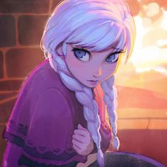 Imagen anime frozen (disney) disney anna (frozen) ilya kuvshinov long hair single blush fringe blue eyes looking away white hair braid (braids) lips lipstick twin braids crossed arms pink lipstick girl fire clothes 453084 es Frozen Disney, Disney Magic, Frozen Anime, Elsa Frozen, Disney E Dreamworks, Disney Films, Disney Pixar, Disney Characters, Disney Fan Art