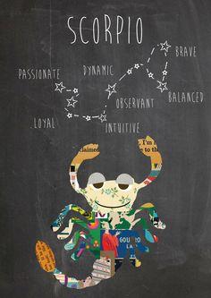 Zodiac Scorpio Constellation and traits Art Print