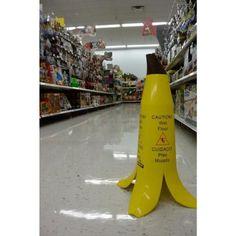 24 in. Banana Cone Multi-Lingual Caution Wet Floor - The Home Depot Wet Floor Signs, Banana, Messages, Flooring, Activities, Products, Wood Flooring, Bananas, Floor