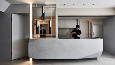 """Completed in 2017 in Taipei, Taiwan. The main concept for this case is """"light"""". Not only making the space have enough nature light, we also brought linear lights, suspended light boxes. Luz Natural, Natural Light, Hotel Lobby, Interior Trim, Kitchen Interior, Design 24, House Design, Sips Panels, Interior Design Images"""