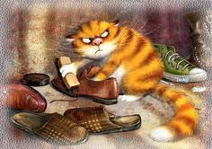 Очищение Cat Art by ? research the artist** Splat Le Chat, Animals And Pets, Cute Animals, Animal Gato, Image Chat, Blue Cats, Cat Drawing, Crazy Cats, Cat Art