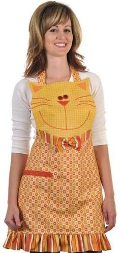 Kool Cat Apron By Rose, Cynthia