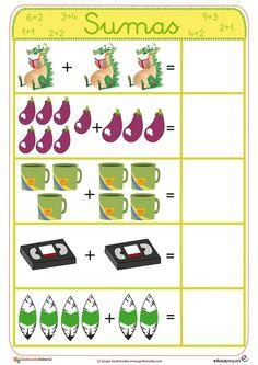 (2014-07) Addition, 2-10 Kindergarten Math Activities, Kindergarten Math Worksheets, Maths Puzzles, Phonics Activities, Preschool Math, Infant Activities, Math For Kids, Fun Math, English Grammar For Kids