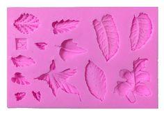 Blue Vessel 3D-Blätter Vein Silikon-Fondant-Form-Kuchen Dekor Backen Icing Sugar…