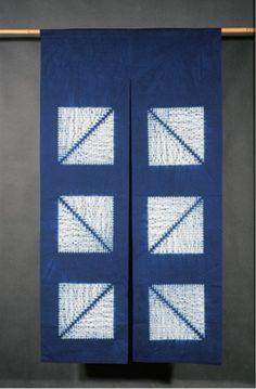 Indigo ikat cloth