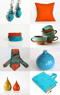 Orange and .... by Matylda on Etsy--Pinned with TreasuryPin.com