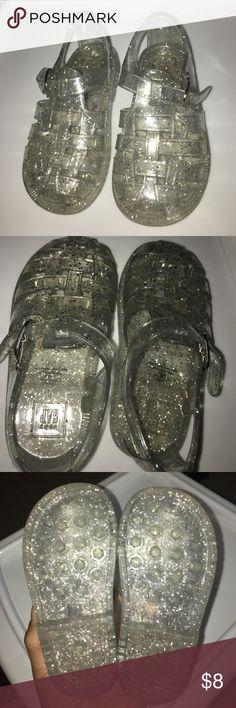 GAP Clear Glitter Jellie Sandals GAP Clear Glitter Jellie Sandals Size 6 GAP Shoes Sandals & Flip Flops