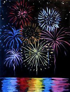 New Year Art. FIreworks Kratz Kunst, Firework Painting, Firework Drawing, Fireworks Art, How To Draw Fireworks, Oil Pastel Art, Scratch Art, Ecole Art, Art Rooms