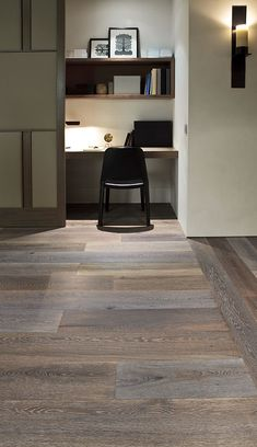 French Grey American Oak timber floors by Royal Oak Floors. Timber Flooring, Hardwood Floors, Grey Hardwood, Grey Wood, Royal Oak Floors, Office Nook, The Design Files, Floor Finishes, Home Office Design