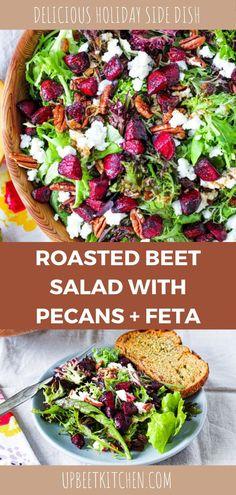 Best Beet Salad Recipe, Beet Salad Recipes, Food Salad, Beet Salad With Feta, Roasted Beet Salad, Winter Salad Recipes, Whole Food Recipes, Cooking Recipes, Greek Dishes