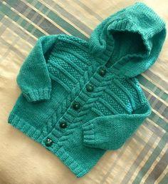 Jumper & Hooded Jacket : Ravelry: Project Gallery for Jumper & Hooded Jacket pattern by Sirdar Spinning Ltd. Baby Boy Cardigan, Cardigan Bebe, Knitted Baby Cardigan, Knit Baby Sweaters, Toddler Sweater, Knitted Baby Blankets, Baby Boy Knitting Patterns, Baby Cardigan Knitting Pattern, Knitting For Kids