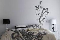 silver spiral stencils wall; - Google Search