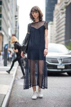 On the street at New York Fashion Week. Photo: Imaxtree/Fashionista.