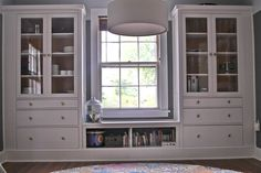 "Dining Room: ""Built-ins"" with window seat using Ikea hemnes cabinets (Source: https://www.pinterest.com/alyssadkent/)"