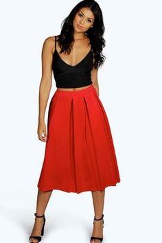 Shop Now - >  https://api.shopstyle.com/action/apiVisitRetailer?id=602763467&pid=uid6996-25233114-59 boohoo Beau Box Pleat Midi Skirt  ...