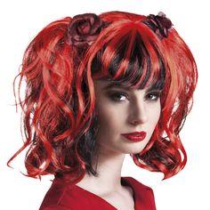 Sugar Skull, Persona, Long Hair Styles, Gothic, Decorations, Beauty, Halloween, Two Braids, Hair Black Hair