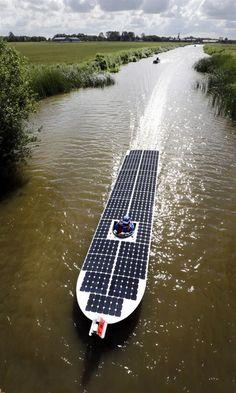 Solar powered boat...