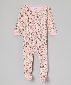 Another great find on  zulily! Pink Reindeer Footie - Infant  amp  Toddler  by 2dc8be3d7