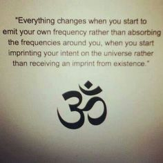 imprint your intent on the universe