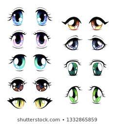 Manga Eyes, Anime Eyes, Box Template Printable, Cute Piglets, Palette Art, Eye Sketch, Cartoon Eyes, Henna Tattoo Designs, Doll Eyes
