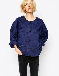 Waven kimono denim jacket