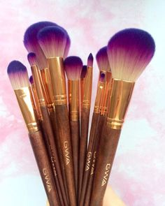 When your makeup brushes are this pretty though Cruelty Free too. Beautiful purple and rose gold brushes for your face, lips and eyes. #gwalondon #fairytalecollection http://www.girlswithattitude.co.uk/accessories.html  They're PURPLE!