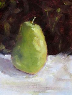 "Daily Paintworks - ""Pear"" - Original Fine Art for Sale - © Susan Elizabeth Jones"