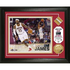 LeBron James 2015 All-Star Game Used Net Gold Coin Photo Mint
