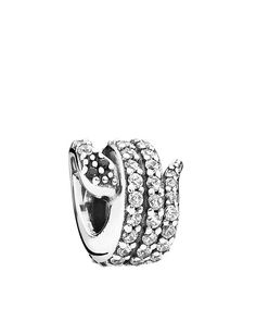 Pandora Charm - Sterling Silver & Cubic Zirconia Sparkling Snake, Moments Collection