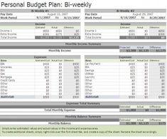 free biweekly budget excel template