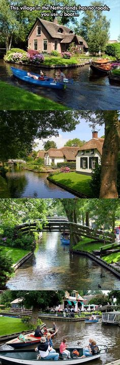Giethoorn, Netherlands: Town of No Roads http://www.youramazingplaces.com/19-amazing-pictures-of-giethoorn-village-without-roads/