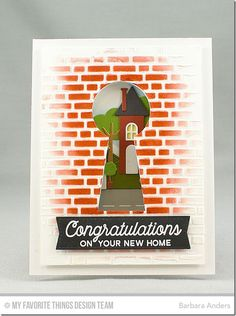 No Place Like Home Card Kit - Barbara Anders #mftstamps