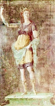 Statue of Diana   Pompeii   c. 50-59   Fresco   Roman   1st century AD   Museo Archeologico Nazionale   Naples, Italy   Giraudon   The Bridgeman Art Library
