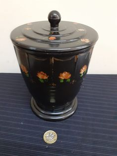 Beautiful Art Deco Bakerlite Container With Lid - No Damage Superb Condition For Age Curiosity Shop, Art Deco, Container, Antiques, Beautiful, Vintage, Antiquities, Antique, Vintage Comics