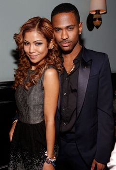 Jhene Aiko and Big Sean at Def Jam's Grammy party