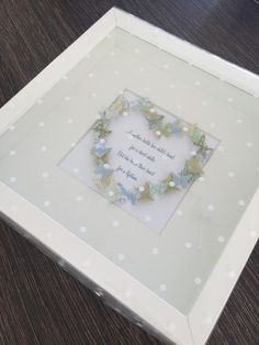 Butterfly box frame can be made to your own color by Emmyloucrafts