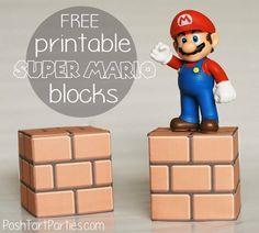 Free Printable Super Mario Brick Blocks