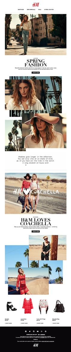 A bohemian love story | newsletter | fashion email | fashion design | email | email marketing | email inspiration | e-mail