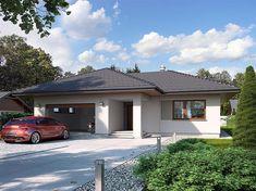 Projekt domu Nika 2 116,51 m2 - koszt budowy - EXTRADOM Rio 2, House Outside Design, Bungalow House Design, Next At Home, Asana, Gazebo, House Plans, Garage Doors, Floor Plans