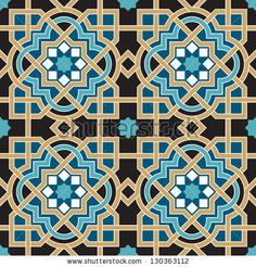 Find Arabic Floral Seamless Pattern Traditional Arabic stock images in HD and millions of other royalty-free stock photos, illustrations and vectors in the Shutterstock collection. Motifs Islamiques, Islamic Motifs, Islamic Art Pattern, Arabic Pattern, Pattern Art, Mosaic Patterns, Geometric Patterns, Graphic Patterns, Geometric Designs