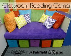 Pieces by Polly: DIY Classroom Reading Corner with Cuddle® Fabric and Fairfield World