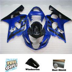 Fit for 04-05 Suzuki GSXR 600 750 Fairing Plastic Injection Mold Blue Black e57