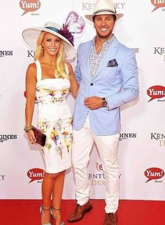 Luke Bryan and Wife, Caroline - love the outfits in this picture.