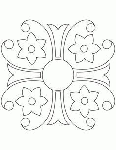 Design Coloring Pages for Teens | Rangoli design coloring ...