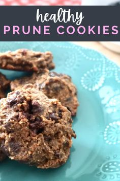 These prune cookies have tons of sweet flavor without added sugar. Made with prunes, oat flour, and chocolate chips, you won't believe how good they are! Perfect for kids and adults and make a great easy dessert or snack!