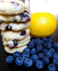 Blueberry & lemon cookies (Style Domaine). Sound simple and delicious.